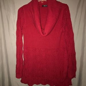 Style & Co Red Turtleneck sweater